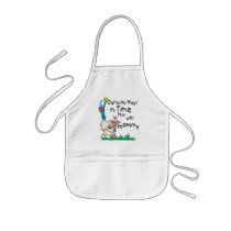 Kids Apron<br />Keep the kids clean in any activity with this kids-length 35% cotton / 65% polyester blend twill apron. Two center pockets hold lots of goodies. Machine washable.  Made in the USA.