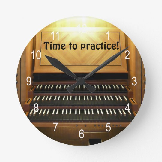 Time to practice musicians wall clock