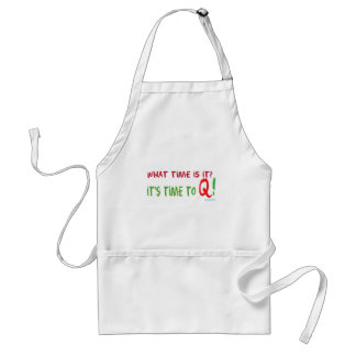 Time To Q Adult Apron