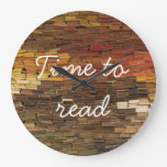 Time to Read Books Clock