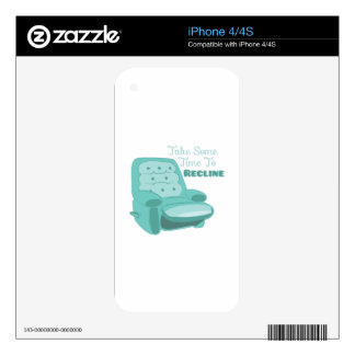 Time To Recline Decals For iPhone 4