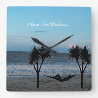Time to Relax Beach Wall Clock