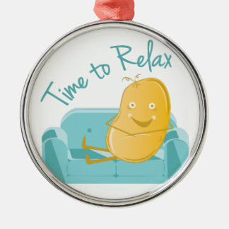 Time To Relax Metal Ornament