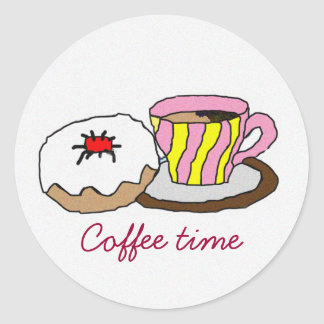 Time to relax classic round sticker