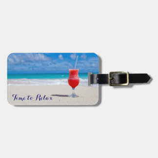 Time to Relax Tropical Drink Bag Tag