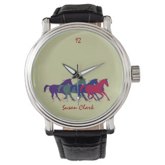time to ride a horse wristwatch
