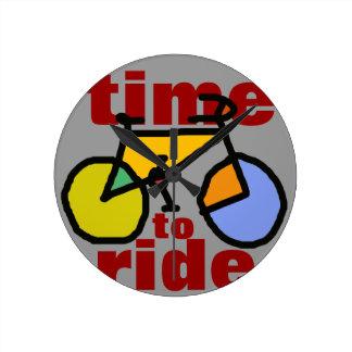 time to ride ~ bike wall clocks