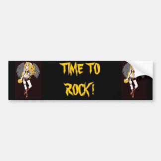 Time To Rock Car Bumper Sticker