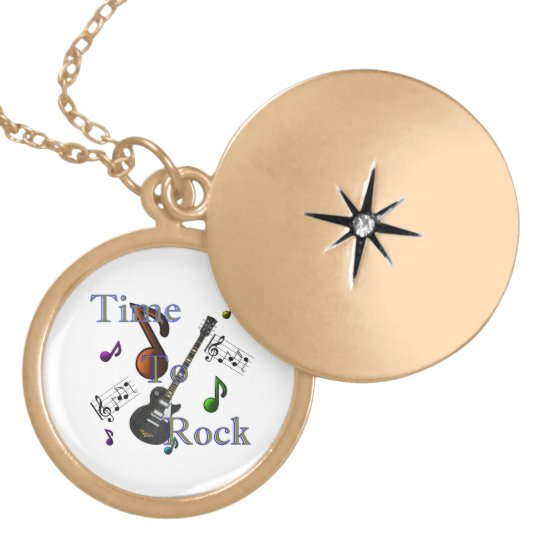 Time To Rock Locket Necklace
