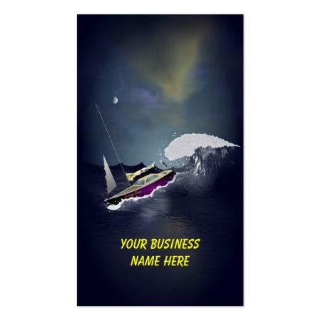 Riding the Midnight Wave Small Boat Business Cards