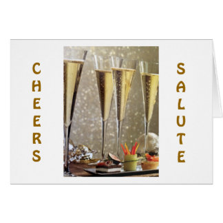 TIME TO SAY CONGRATULATIONS=CHAMPAGNE TOAST CARD