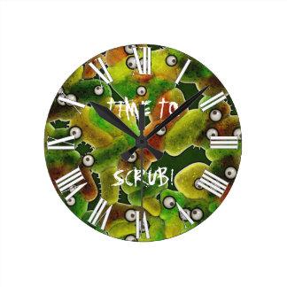 TIME TO SCRUB MEDICAL O.R. ER Fun Microbes Clock