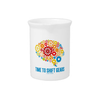 Time To Shift Gears (Gears Brain) Beverage Pitcher