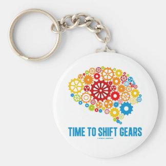 Time To Shift Gears (Gears Brain) Key Chain