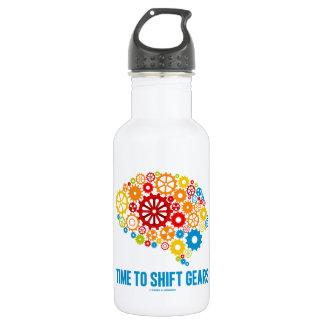 Time To Shift Gears (Gears Brain) Stainless Steel Water Bottle