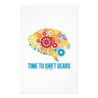 Time To Shift Gears (Gears Brain) Stationery