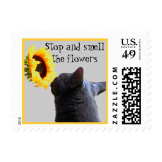 Time to Smell the Flowers Postage Stamp