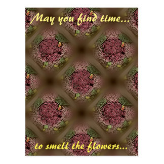 Time to smell the flowers - snail mail postcard
