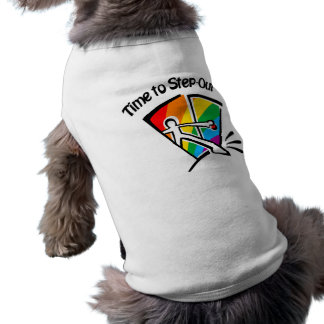 Time to step out dog t-shirt