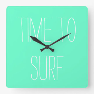 """""""Time to Surf"""" Wall Clock"""