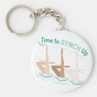 Time To Synch Up Basic Round Button Keychain