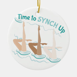 Time To Synch Up Ceramic Ornament