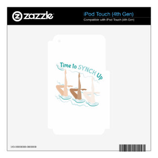 Time To Synch Up iPod Touch 4G Skin