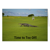 Time To Tee Off Alligator Golf Course Retirement