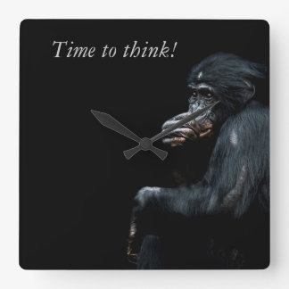 Time to think! square wall clock