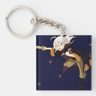 Time to tip the scale! Single-Sided square acrylic keychain