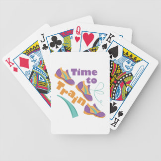 Time To Train Bicycle Playing Cards