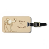 Time To Travel! Camel Luggage Tag