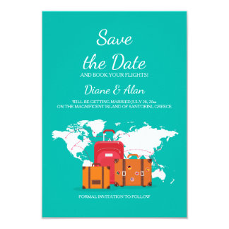 Time To Travel Save The Date Announcement