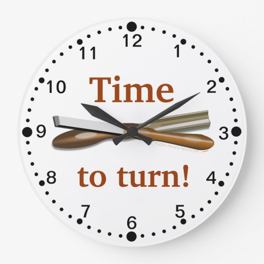 Time to Turn Woodturning Tools Clock with Minutes