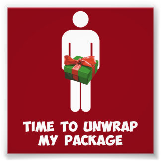 Time to Unwrap My Christmas Package Photo Print