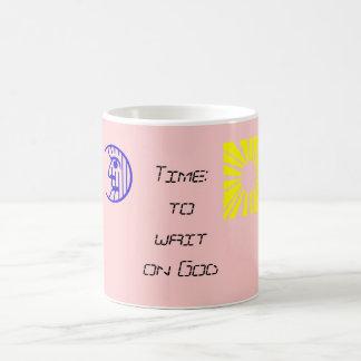 Time: to wait on God Coffee Mug