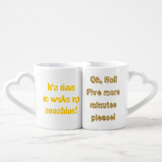 Time to Wake Up Sunshine His Her Funny Coffee Mug Set