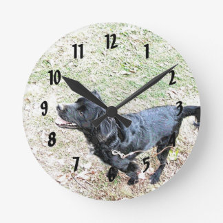 Time To Walk The Dog Wall Clock