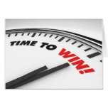 Time To Win Greeting Card