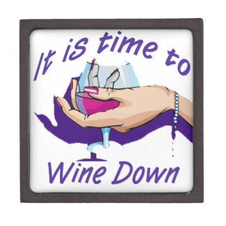 Time to wine down jewelry box