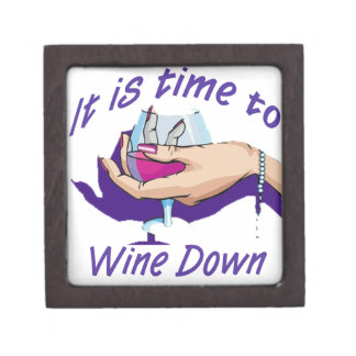Time to wine down keepsake box