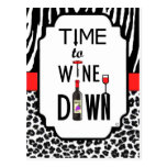 Time to Wine Down Postcard