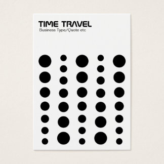 Time Travel - Black on White Business Card