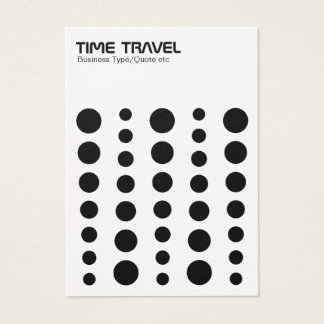 Time Travel - Black on White (Cream Card) Business Card