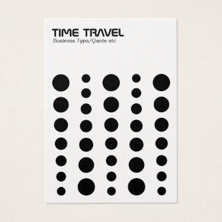 Time Travel - Black on White (Gold Card) Business Card
