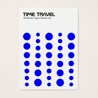 Time Travel - Blue on White Business Card