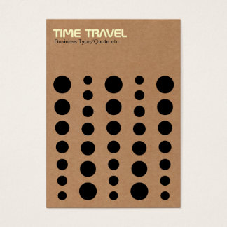 Time Travel - Cardboard Business Card