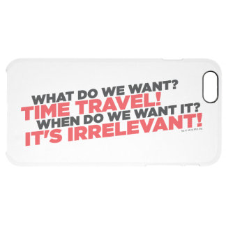 Time Travel Clear iPhone 6 Plus Case