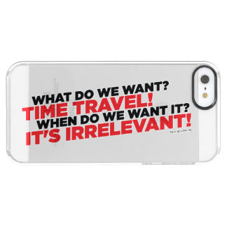 Time Travel Clear iPhone SE/5/5s Case