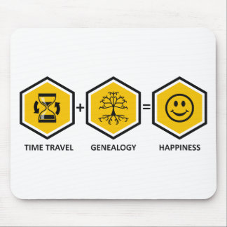 Time Travel + Genealogy = Happiness Mouse Pad